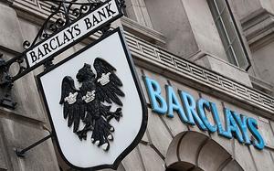 Barclays hanging and wall sign - photo - November 2016