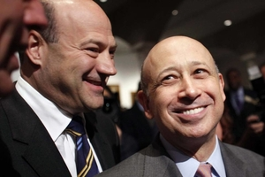 Gary Cohn and Goldman Sachs CEO Lloyd Blankfein - photo - December 2016